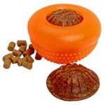 Rubber Chewing Half-Ball / Medium Treat Dispensing Toy
