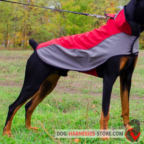 Warm Nylon Doberman Vest for Winter Walks