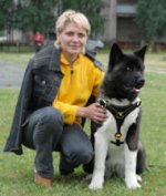 Leather Akita Inu Harness for Professional Training