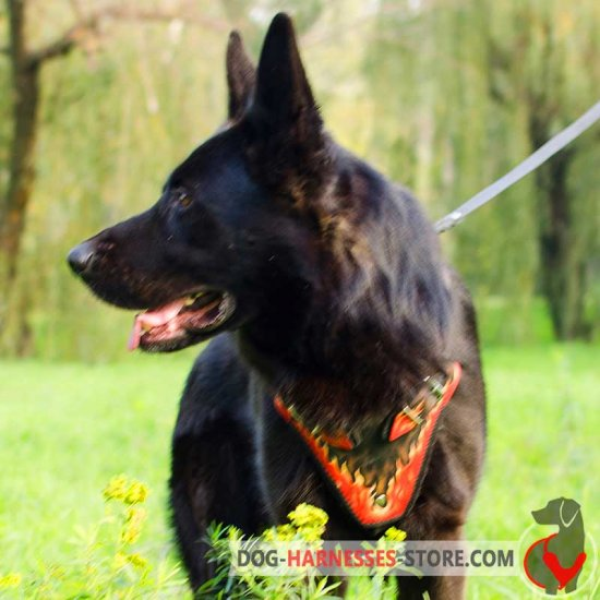 Deluxe Hand Painted German Shepherd Harness