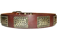 Luxury Leather Dog Collar for every day walking dogs