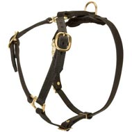 Luxury handcrafted leather dog harness