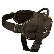 Light Weight Nylon Dog Harness for Pulling and Tracking