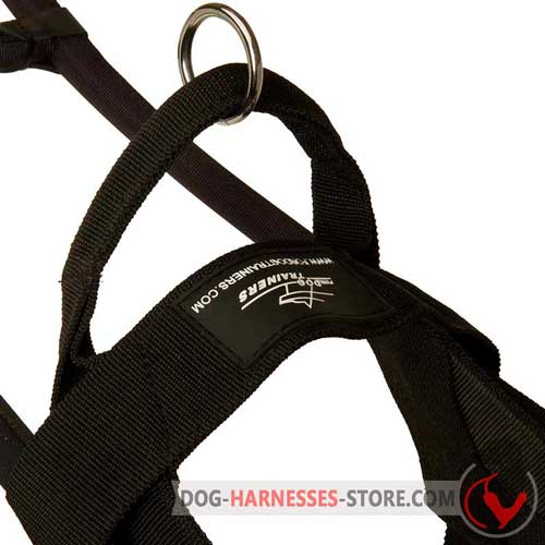 Assistance Nylon Dog Harness with Easy Quick Release Buckle