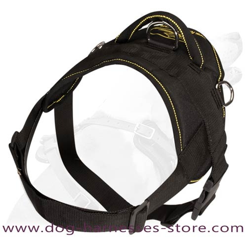All Weather Dog Harness Made Of Strong Nylon Material