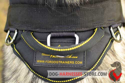 Nylon Dog Harness with 3 Massive Nickel Covered D-Rings