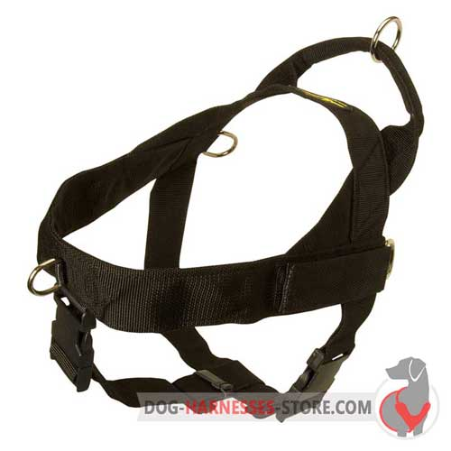 Leightweight nylon dog harness for military service
