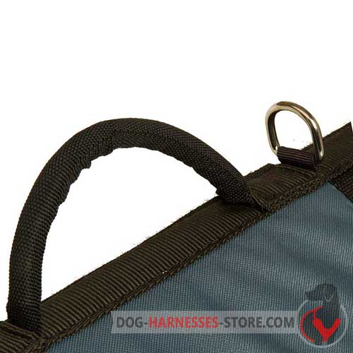 Warming nylon dog harness with comfy handle