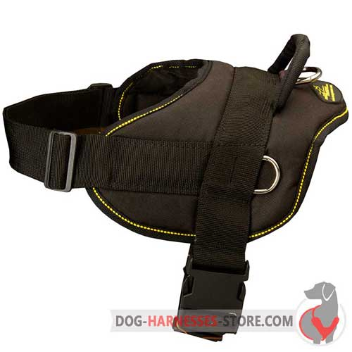 Non-stretching nylon dog harness for daily use