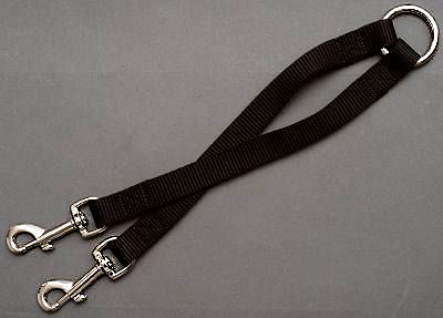 Nylon 2-Way Couplers Leash for 2 walking dogs