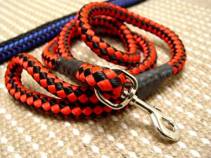 Cord nylon dog leash for large dogs- dog lead for walking for dog training or for dog owners