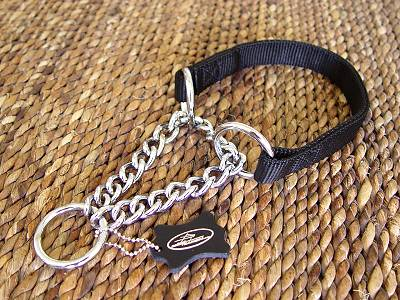 Chain All Weather Choke Nylon Martingale Dog Collar for dog training or for dog owners