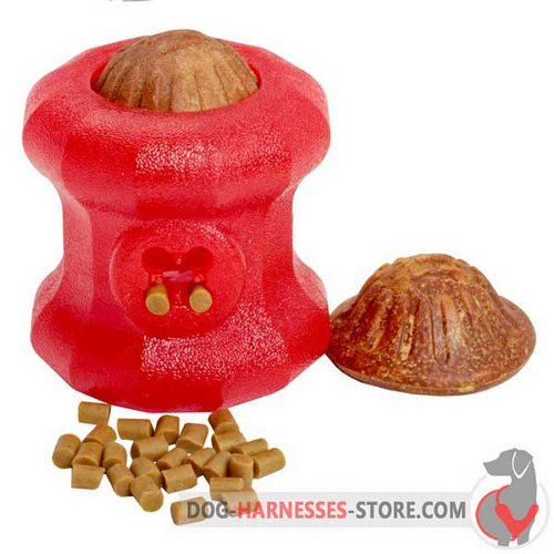 Big Rubber Dog Toy Fire Plug with Small and Big Treats