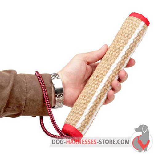 Jute Dog Bite Roll for Playing and Training