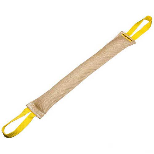 Long Dog Bite Tug Jute with 2 Handles