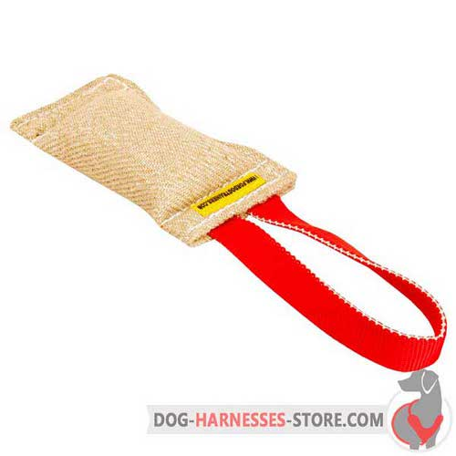 Jute Puppy Bite Tug with One Handle