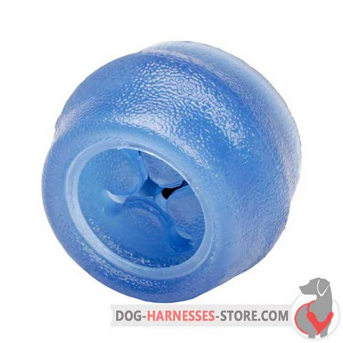 Small Chewing Dog Ball of Blue Rubber
