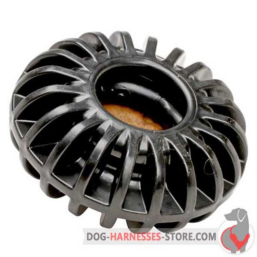 Big Chewing Dog Toy of Black Rubber