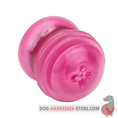 Medium Rubber Dog Toy Pink for Chewing