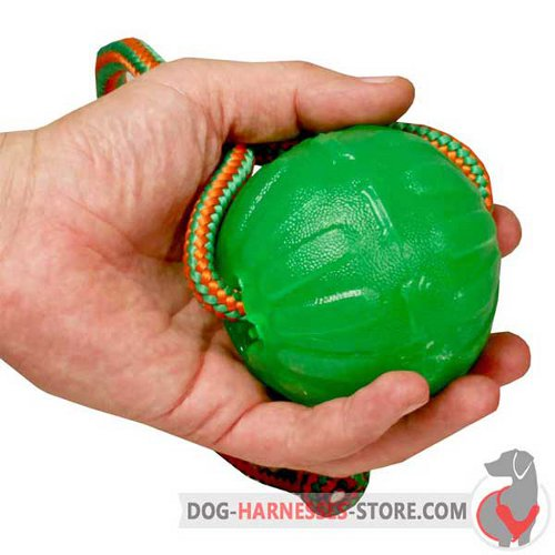 Rubber Dog Ball Lightweight on String