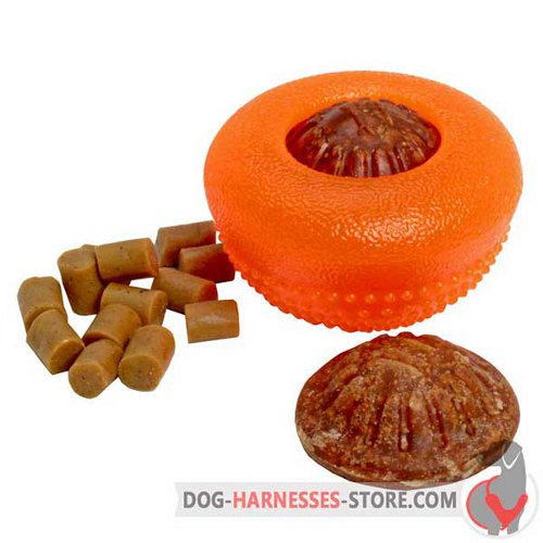 Rubber Dog Half-Ball Small for Dispensing Treats and Kibble