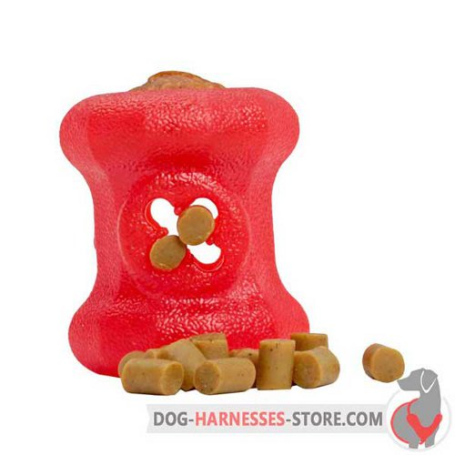 Small Rubber Dog Toy Fire Plug with Small Treats