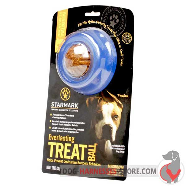 Medium Treat Holder Ball Blue in Original Packing