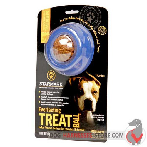 Treat Holder Dog Ball Blue in Original Packing