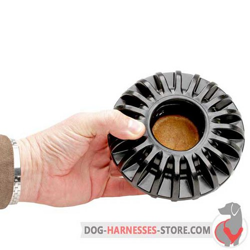 Treat Holding Dog Toy Black for Large Breeds