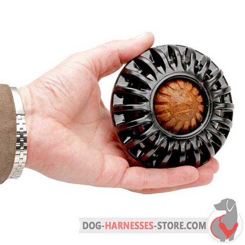 Treat Holding Dog Toy Black for Middle-Sized Breeds
