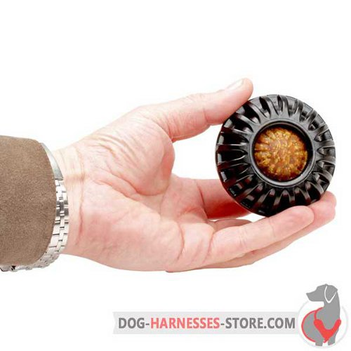 Treat Holding Dog Toy Black for Small Breeds and Puppies