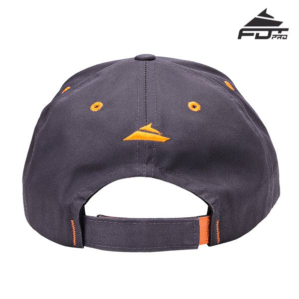 Dog Walking Adjustable One-size Snapback Cap Dark Grey Color