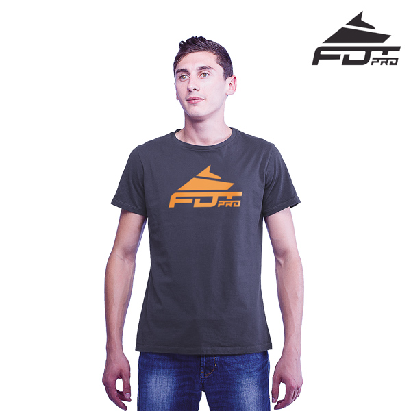 High Quality Cotton Professional Men T-shirt of Dark Grey