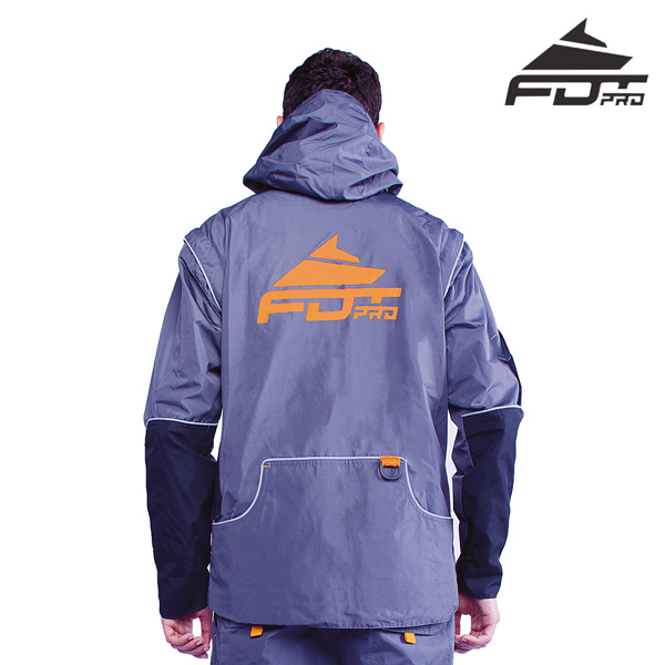 FDT Pro Dog Tracking Jacket of Grey Color with Comfy Side Pockets