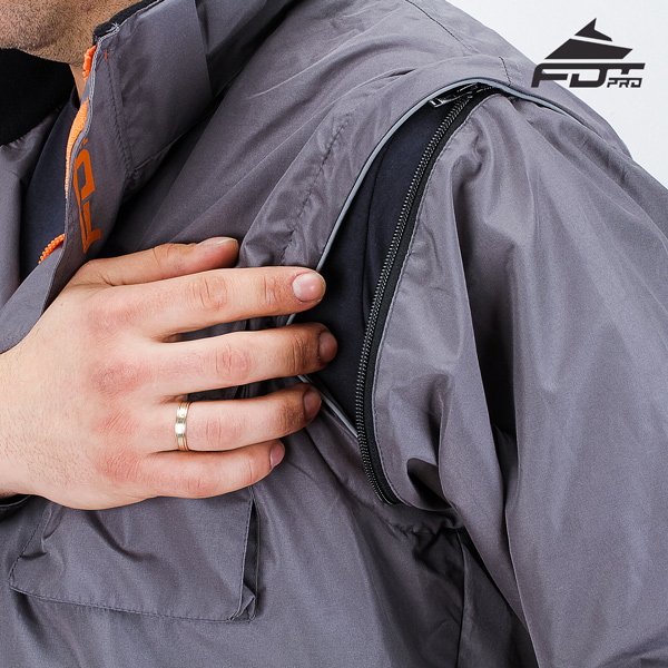 Durable Zipper on Sleeve for FDT Pro Design Dog Tracking Jacket