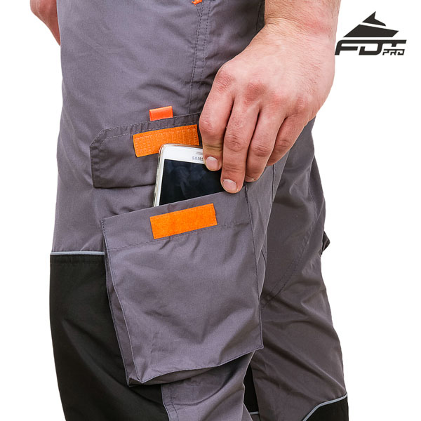 FDT Pro Design Dog Tracking Pants with Handy Velcro Side Pocket