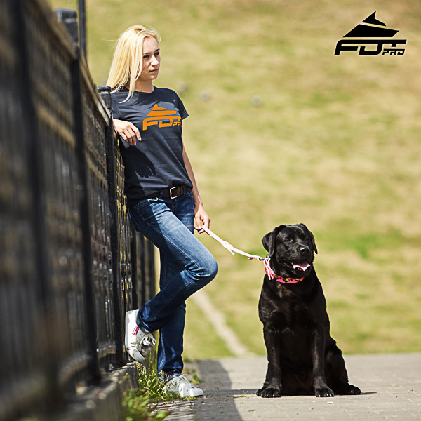 Women T-shirt of High Quality Cotton for Dog Walking